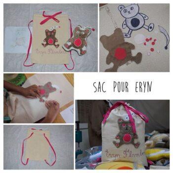 Instagram - Après vous avoir présenté le doudou d'Eryn on vous présente son sac! #peluche #dessins #cadeauxuniques #zazabracadabra