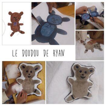 Instagram - Le doudou de Ryan prêt à l'envoi! #zazabracadabra #enfants #dessins #creationsuniques