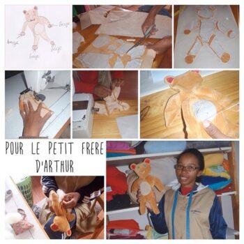Instagram - Un cadeau pour le petit frère d'Arthur ! _#zazabracadabra #creation #doudou #enfants #dessin